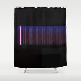 infinity - black version Shower Curtain