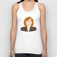 dana scully Tank Tops featuring Dana Scully by Anna Valle
