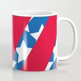 Red Stripes with Blue and Stars Coffee Mug