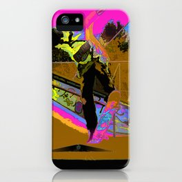 The Lift-Off - Skateboarder iPhone Case
