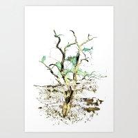 Tree Rise Art Print