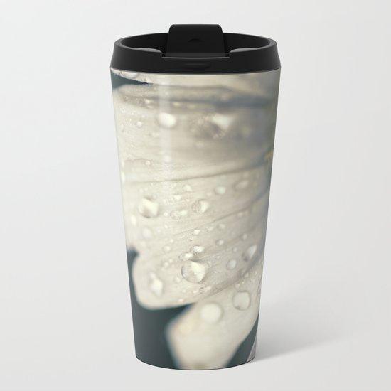 Raindrops on Petals Metal Travel Mug
