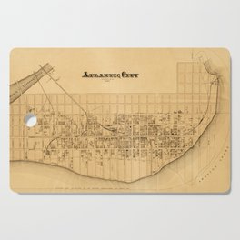 Map of Atlantic City 1877 Cutting Board