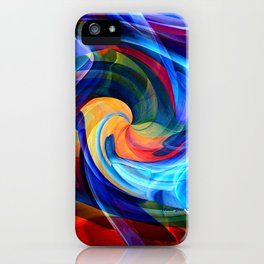 This Kiss Digital Abstract Art By Annie Zeno iPhone Case