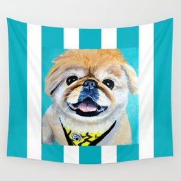 Peke Fred Yellow Wall Tapestry