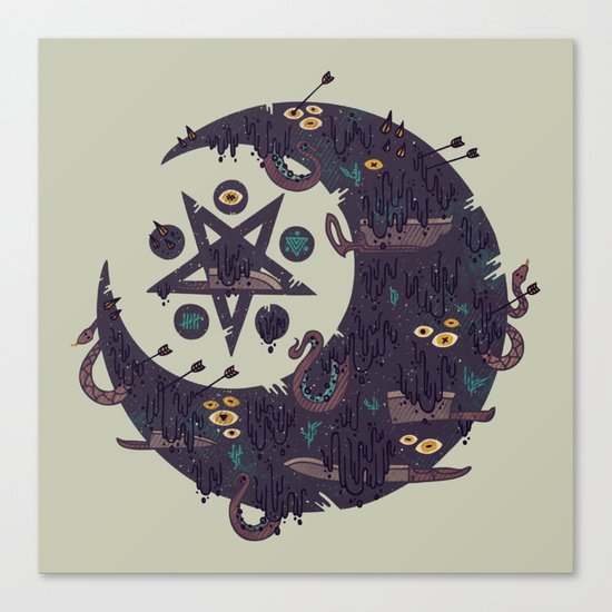 The Dark Moon Compels You to Fuck Shit Up Canvas Print