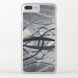 underwater black and white nature Clear iPhone Case