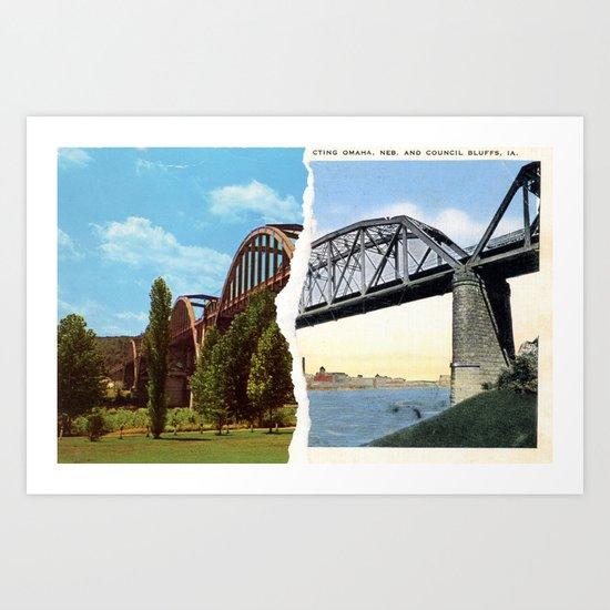 Postcard Tear #1 Art Print