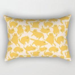 Yellow Cats Pattern Rectangular Pillow