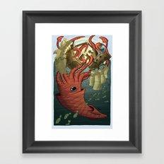 Kraken Attack Framed Art Print