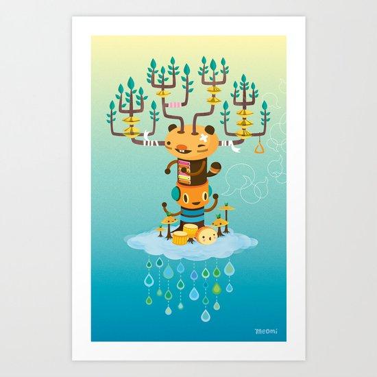 Cloud Music Art Print