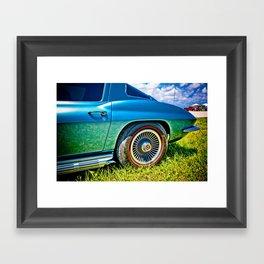 Blue Chevrolet Corvette Sting Ray Framed Art Print