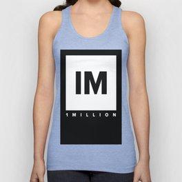 1 MILLION Dance Studio Logo (White Version) Unisex Tank Top