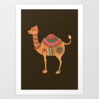 The Ethnic Camel Art Print