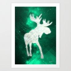 Space Reindeer Art Print