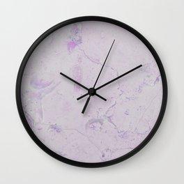 Vintage blush lavender elegant marble Wall Clock