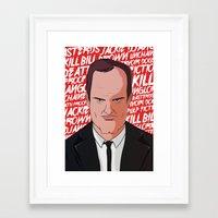 quentin tarantino Framed Art Prints featuring Tarantino by Happy Motion