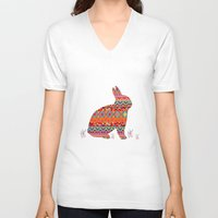 india V-neck T-shirts featuring India Style Pattern (Multicolor) by Diego Tirigall