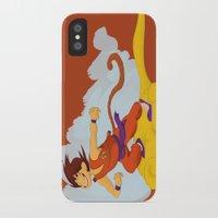 dragonball iPhone & iPod Cases featuring DragonBall: Goku and Nimbus by Michelle Rakar