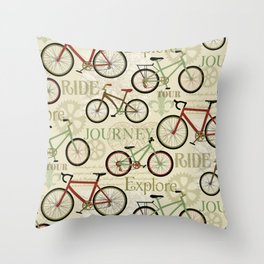 Bicycles, Journey Throw Pillow