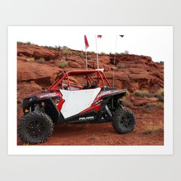 Polaris RZR in Sand Hollow - St George, UT Art Print