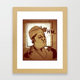 Hm... Framed Art Print