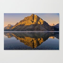 Reflections at Bow Lake Canvas Print