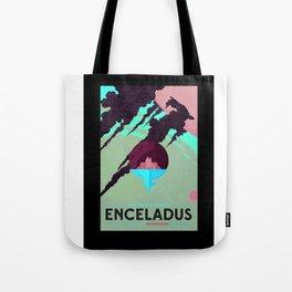 Enceladus - NASA Space Travel Poster (Alternative) Tote Bag
