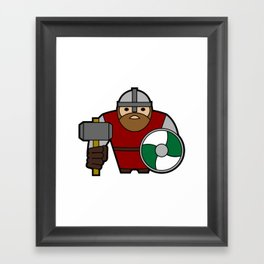 Dwarf Warrior Framed Art Print