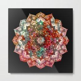 Autumn Star Mandala Metal Print