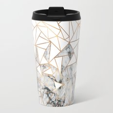 Marble polygon pattern Travel Mug
