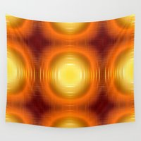 70s Wall Tapestries featuring Flashy 70s,effect,red by MehrFarbeimLeben