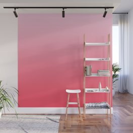 Ombre Pink Rose Gradient Pattern Wall Mural