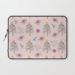 Christmas Pattern Pink Laptop Sleeve