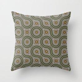 Round Truchets in CMR 01 Throw Pillow