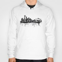seattle Hoodies featuring Seattle. by Dioptri Art