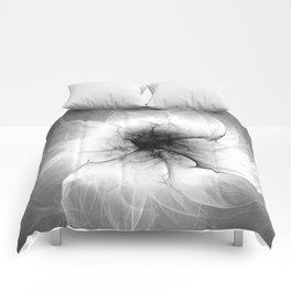 Ghost Flower Fractal Comforters