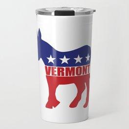 Vermont Democrat Donkey Travel Mug