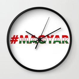 # Hashtag Magyar Wall Clock