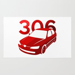Peugeot 306 - classic red - Rug