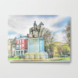 Richmond VA,Stonewall Jackson Monument,Richmond Virginia Metal Print