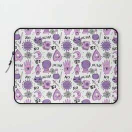 Ouija halloween potions crystal ball witch magic sorcerer pattern by andrea lauren Laptop Sleeve