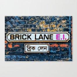 London Brick Lane Sign Canvas Print