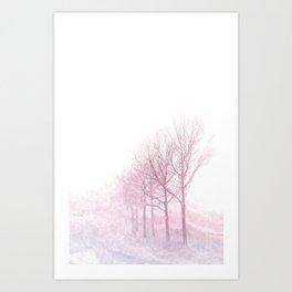Pink winter trees Art Print
