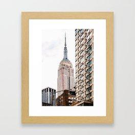 Empire State Building in New York Framed Art Print