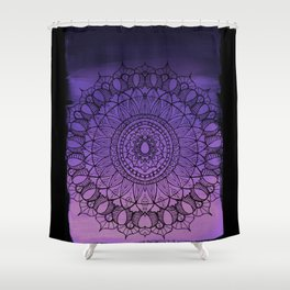 Purple Ombre Boho Mandala Shower Curtain