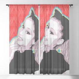 Ariana | Pop Art Sheer Curtain