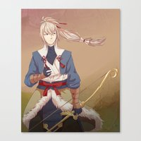 fire emblem Canvas Prints featuring Fire Emblem Fates Takumi by Cycha