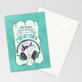Music Heals the Soul Stationery Cards