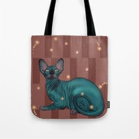 sphynx Tote Bags featuring Sphynx by Illness